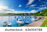 wonderful romantic summer... | Shutterstock . vector #636504788