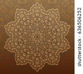 arabic geometric pattern for... | Shutterstock .eps vector #636506252