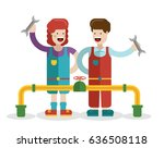 vector flat colorful funny... | Shutterstock .eps vector #636508118