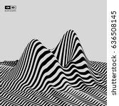 landscape background. terrain....   Shutterstock .eps vector #636508145