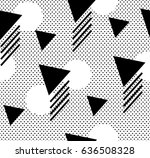 seamless pattern with polka dot ... | Shutterstock .eps vector #636508328