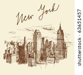 hand drawn new york | Shutterstock .eps vector #63651457