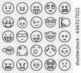 expression icons set. set of 25 ... | Shutterstock .eps vector #636517022