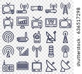 antenna icons set. set of 25... | Shutterstock .eps vector #636517298