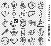 human icons set. set of 25... | Shutterstock .eps vector #636517322