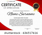 certificate or diploma template ...   Shutterstock .eps vector #636517616