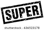 square grunge black super stamp | Shutterstock .eps vector #636523178