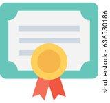 certificate vector icon   Shutterstock .eps vector #636530186