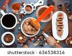 assortment of chocolate... | Shutterstock . vector #636538316