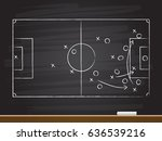 chalk hand drawing with soccer... | Shutterstock .eps vector #636539216