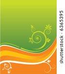 an abstract floral grunge... | Shutterstock .eps vector #6365395