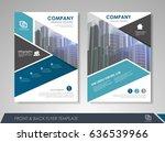 blue annual report brochure... | Shutterstock .eps vector #636539966