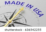 compass needle pointing to the... | Shutterstock . vector #636542255