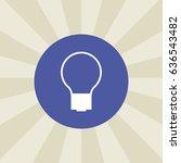 bulb icon. sign design....