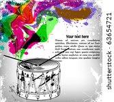 music concept grunge background ... | Shutterstock .eps vector #63654721