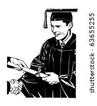 Grad Receiving Diploma   Retro...