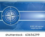 blue background with compass... | Shutterstock .eps vector #63656299