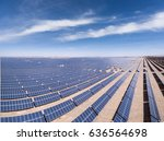 panoramic view of solar power... | Shutterstock . vector #636564698