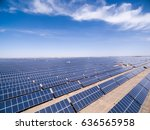 aerial view of solar energy ... | Shutterstock . vector #636565958