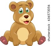 cute bear cartoon  | Shutterstock . vector #636573056