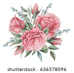 hand painted watercolor... | Shutterstock . vector #636578096