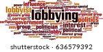 lobbying word cloud concept.... | Shutterstock .eps vector #636579392