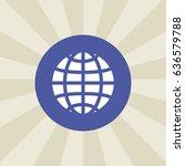 globe icon. sign design.... | Shutterstock . vector #636579788