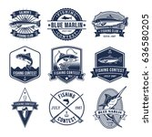 set of badges  stickers on... | Shutterstock . vector #636580205