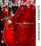 elegant christmas background... | Shutterstock .eps vector #63658270