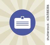 id card icon. sign design....