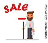 businessman is drawing word sale | Shutterstock .eps vector #636590462