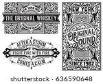 western card templates | Shutterstock .eps vector #636590648