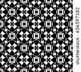 raster monochrome seamless... | Shutterstock . vector #636597182