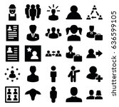 profile icons set. set of 25... | Shutterstock .eps vector #636599105