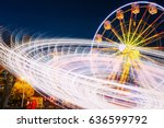 rotating in natural motion... | Shutterstock . vector #636599792