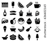tasty icons set. set of 25... | Shutterstock .eps vector #636602165