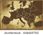 europe old map | Shutterstock .eps vector #636605702