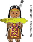 Indian Girl With Corn