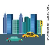 buildings city skyline image  | Shutterstock .eps vector #636607252