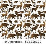 abstract triangular  animal... | Shutterstock .eps vector #636615172
