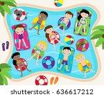 pool party vector set ...   Shutterstock .eps vector #636617212