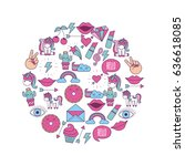 girly icon image    Shutterstock .eps vector #636618085