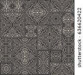 vector abstract seamless... | Shutterstock .eps vector #636620422
