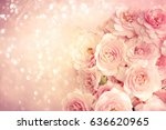 roses background | Shutterstock . vector #636620965