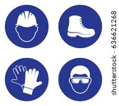 simple mandatory health safety... | Shutterstock .eps vector #636621268