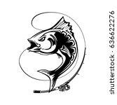 angry tuna fish logo. tuna... | Shutterstock .eps vector #636622276