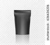 black mockup blank foil. vector ...   Shutterstock .eps vector #636626206