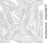 tropical palm leaves seamless... | Shutterstock .eps vector #636628675