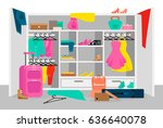 bright time travel concept with ... | Shutterstock .eps vector #636640078