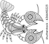 vector coloring book for adult. ...   Shutterstock .eps vector #636640225